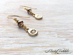 Gold Lotus Earrings, Boho Dangle Earrings, Flower Earrings, Gold Lotus Jewelry, Buddhist Jewelry, Yoga Earrings, Lotus Flower, Lotus Earring by MartyTribble on Etsy