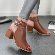2016 New Summer Gladiator Sandals Shoes For Women Thick Heel Cork Open Toe Women Lady Ankle Boot Belt Buckle Women Shoes Pumps
