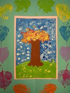 Monet Inspired Fall Trees