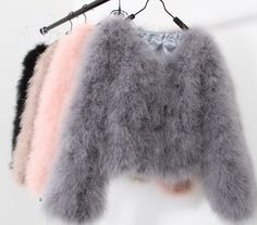 fur short jacket on sale at reasonable prices, buy sexy Ostrich wool turkey real fur women black coat genuine feather short plus size winter festival long sleeve jacket from mobile site on Aliexpress Now! Girls Fashion Clothes, Teen Fashion Outfits, Girl Fashion, Swag Fashion, Fashion Women, Dope Fashion, Fashion Black, Winter Outfits, Luxury Fashion
