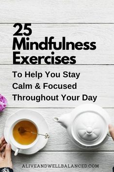 I've compiled a list of 25 simple ways to practice mindfulness that anyone can use to bring more mindfulness into their day-to-day life. Mindfulness Techniques, Mindfulness Exercises, Mindfulness Activities, Mindfulness Practice, Meditation Techniques, Mindfulness Meditation, Meditation Music, Transcendental Meditation Technique, Focus Your Mind