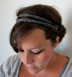 Braided t-shirt headband (Except, I would cover the elastic at the bottom with t-shirt too...)