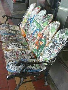 Skate boards. I want this for the bus stop at our corner. How cool would it be!