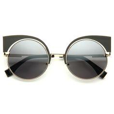 Cheap Cat Eye Sunglasses | Eyeshine Designer Inspired Metal Cat Eye Sunglasses | BleuDame.com Cat Eye Sunglasses, Round Sunglasses, Sunnies, Lenses, Design Inspiration, Inspired, Metal, Round Frame Sunglasses, Sunglasses