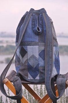 """Купить Рюкзак джинсовый """"3D Vision"""" - рюкзак, рюкзак джинсовый, рюкзак ручной работы"""