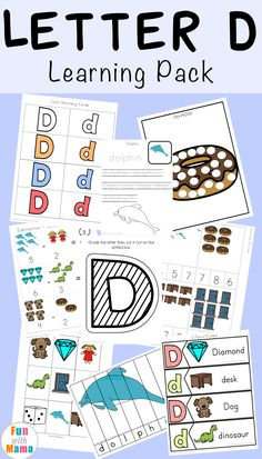 This freeLetter Dpreschool packcontains our latestletter dfilled educational activities. Theworksheets, clip cards and activities are suitable for young children ages You can find all of ourFree alphabet ABC PrintablePackshere. Teaching Letters, Preschool Letters, Letter Activities, Preschool Learning Activities, Kindergarten Worksheets, Educational Activities, Homeschool Worksheets, Homeschooling, Abc Learning
