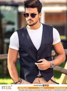 Denim vest is a great companion for Summers !  Do you agree with us? Then Like, Share & Comment :)  #Menswear #Clothing #Store #Ahmedabad #DenimVest #Style #Fashion #StyleUp #SteelAllMale
