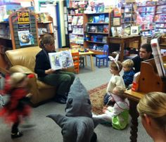 Costumed kids at our Halloween story time  2013