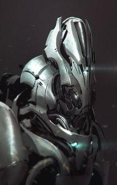 More robot helmets by Anthony Jones Robotpencil