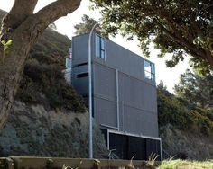 Ross Stevens House-unique shipping container home built into the side of the hill