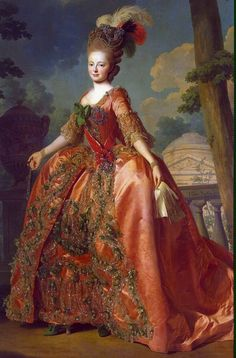 1777 Portrait of Grand Duchess Maria Fiodorovna - Alexander Roslin