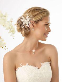 Bianco Evento haar accessoire bruid ivoor 113