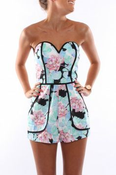 Forever Mine Playsuit Aqua $59 SHOP: http://www.jeanjail.com.au/ladies/forever-mine-playsuit-aqua.html  This playsuit is GORGEOUS!!! Come with straps if the wearer feels they need that extra support but does look amazing strapless. This is all kinds of amazing!!