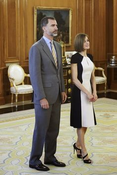 Queens & Princesses - King Felipe and Queen Letizia held several hearings in the Zarzuela Palace, in Madrid.