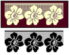 Pike Lace Samples, # aradantelands # lace samples new - Crochet Clothing 2019 - 2020 Filet Crochet Charts, Crochet Borders, Crochet Motif, Crochet Doilies, Crochet Lace, Crochet Stitches, Crochet Patterns, Crochet Curtain Pattern, Crochet Curtains