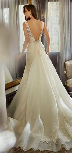 Sophia Tolli 2015 Bridal Collection | bellethemagazine.com;  OMG this back is perfect! Love!!!