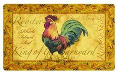 Cushion Comfort Apache Mills Country Rooster Kitchen Mat, 18 by Rooster Kitchen Decor, Rooster Decor, Kitchen Decor Themes, Kitchen Ideas, Rooster Rug, Round Kitchen, Dining Decor, Kitchen Inspiration, Room Decor