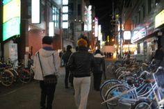 Osaka street, warking person