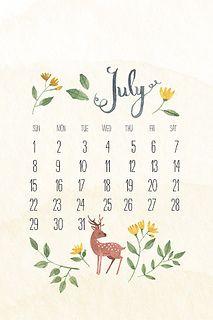 iPhone July calendar by oanabefort
