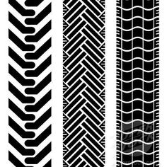vintage tire tread | stock photo collection of tire treads in black and white with repeat ...