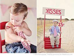 Valentine's Day posing ideas for kids (via iHeartFaces.com) - love the kissing booth & heart tattoos @Melinda Kim