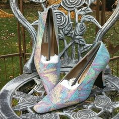 NIB Bight Colorful Heels  These are new in box bright colorful heels. Monzo & Franco  Shoes Heels