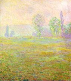 Claude Monet. Meadows at Giverny (1888).