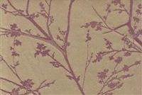 I need this somewhere in the house.. - Dogwood Purple is an exceptional contract fabric with a flowering dogwood tree in soft Lavender depicted against a Pale Gold background.