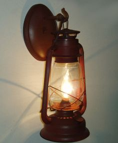 +western decor for pintrest | Lantern Sconce Indoor/Outdoor - Western Decor - Cabin Decor