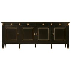 Ebonized Vintage French Directoire Style 4 Drawer over 4 door Buffet   From a unique collection of antique and modern buffets at http://www.1stdibs.com/furniture/storage-case-pieces/buffets/