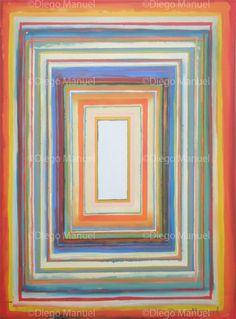 Composición con rectángulos concéntricos 3, acrylic on canvas, 70 x 95 cm.2013