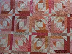 Scrappy Pink Pineapple Blossom Quilt | Millie's Quilting