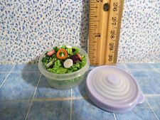 Barbie 1:6 Kitchen Dishes Miniature Food Tupperware Container Salad Handmade #8