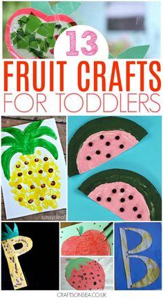 Fruit crafts for toddlers preschool easy #toddler #preschool #kidscraft #kidsactivities