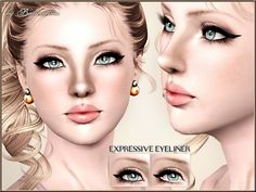 Expressive Eyeliner by Pralinesims - Sims 3 Downloads CC Caboodle