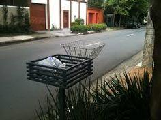 Lixeira calçada