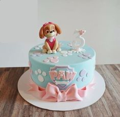 Girls Paw Patrol Cake, Bolo Do Paw Patrol, Skye Paw Patrol Cake, Torta Paw Patrol, Paw Patrol Birthday Cake, Birthday Cakes Dubai, Birthday Cake Girls, Card Birthday, Birthday Greetings