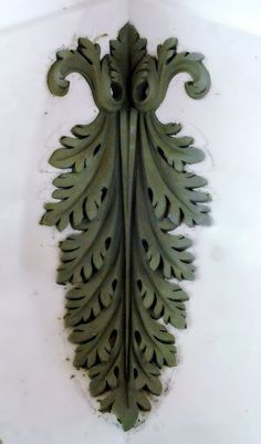 Clay Model in the Hyde Park Mouldings Studios: August, Wall Painting Decor, Art Decor, Stone Carving, Wood Carving, Flower Background Design, Plaster Art, Carving Designs, Ceramic Pots, Pattern And Decoration