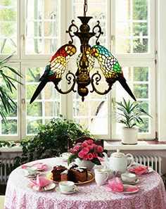 Makernier Vintage Tiffany Style Stained Glass 3 Arms Parrots Chandelier Makenier http://www.amazon.com/dp/B00OX7XVTI/ref=cm_sw_r_pi_dp_ioAwvb1XT9HY9