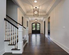 Love the double front door and large, open hallway.