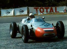 1962 French GP @ Rouen-Les-Essarts - Carel Godin de Beaufort finiswhing 6th with the Ecurie Maarsbergen Porsche 718 #38