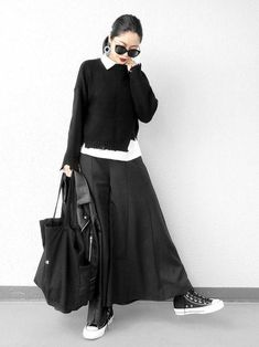 black women fashion styles in 2020 Skirt Fashion, Hijab Fashion, Korean Fashion, Fashion Outfits, Fashion Trends, Fashion Styles, Fashion Fashion, Casual Skirt Outfits, Mode Outfits
