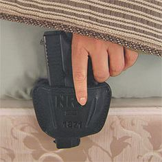 handgun holster for your bed....awesomeee!