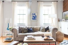 Homepolish interior designer Sarah Finkelstein wanted to feature a couple's well-matched, yet differing personalities in the decor.