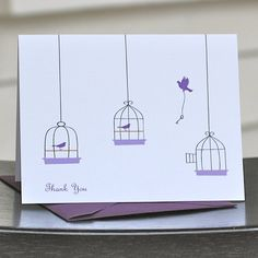 Thank You Cards / Thank You Card Set / Personalized Cards - Free As A Bird