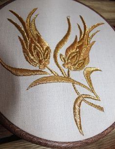 Sim sarma .... Home Decor Gold Embroidery Hoop Fiber Art Ottoman by TurkishHome