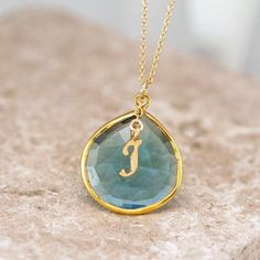 Small Initial Necklace in Gold/ Gold Initial Necklace / Personalized Initial Necklace / Gold Letter Necklace / Single Initial Necklace / Gold Necklace This is a beautiful dainty necklace, very cute and delicate, you can wear it alone or 14k Gold Initial Necklace, Blue Topaz Necklace, Monogram Jewelry, Dainty Gold Necklace, Monogram Necklace, Birthstone Necklace, Drop Necklace, Personalized Necklace, Layer Necklace