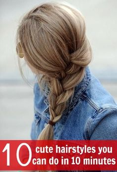 cute hairstyles you can do in 10 minutes, perfect for moms!