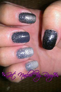 grey glitter ombre nails  www.GetNailedByRoxy.com