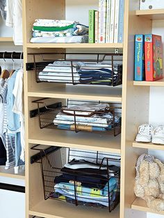 Maximize your closet space on a budget with these DIY closet organization ideas. There are closet organizing ideas for bedroom closets, bathroom closets, linen closets and more that are perfect for small spaces. Bedroom Closet Storage, Closet Drawers, Small Closet Organization, Clutter Organization, Organization Ideas, Bedroom Organization, Bedroom Closets, Organizing Tips, Organising